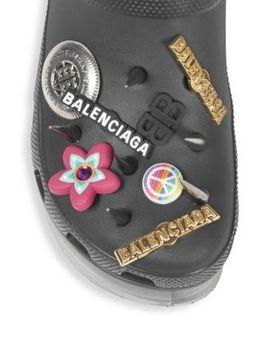 Black Foam Platforms With Spikes by Balenciaga