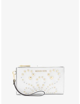 Adele Embellished Leather Smartphone Wristlet by Michael Michael Kors