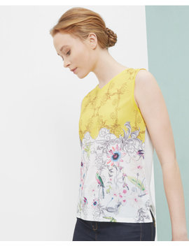 Passion Flower Vest Top by Ted Baker