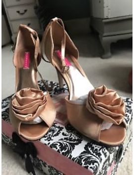 Bordello Rosa Champagne Gold Shoes High Heels Peep Toe Rose Us 9 Uk 6.5 Eur 40 by Ebay Seller