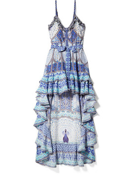 Wings To Fly Embellished Printed Silk Crepe De Chine Maxi Dress by Camilla