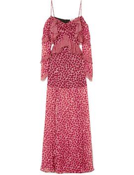 Talia Printed Silk Chiffon Gown by Raquel Diniz