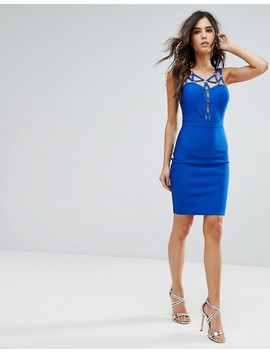 Wow Couture – Bandagen Kleid Mit Trägern by Wow Couture