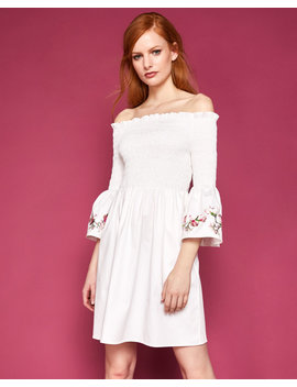 Embroidered Smock Dress by Ted Baker