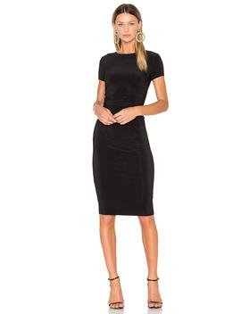Short Sleeve Shirred Dress by Norma Kamali