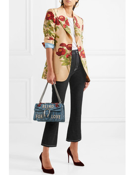Floral Print Wool And Mohair Blend Blazer by Gucci