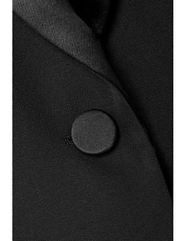 Satin Trimmed Wool Blazer by Maison Margiela