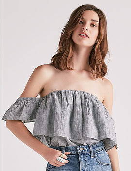 Ruffle Off Shoulder Top by Lucky Brand