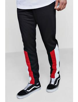 Skinny Fit Colour Block Panel Joggers by Boohoo