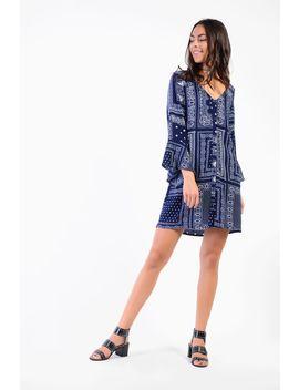 **Bandana Printed Dress By Glamorous by Topshop