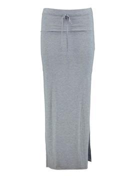 Petite Lola Split Side Jersey Maxi Skirt by Boohoo