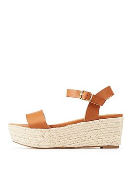 Espadrille Wedge Sandals by Charlotte Russe
