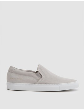 Slip On Suede Sneaker In Grey by Need Supply Co.