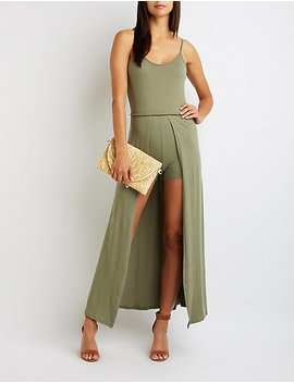 Scoop Neck Maxi Romper by Charlotte Russe