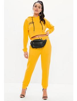 Madison Beer X Missguided Yellow Basic Joggers by Missguided