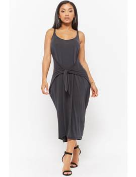 Tie Front Tank Dress by F21 Contemporary