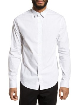 Regular Fit Stretch Stripe Sport Shirt by Vince