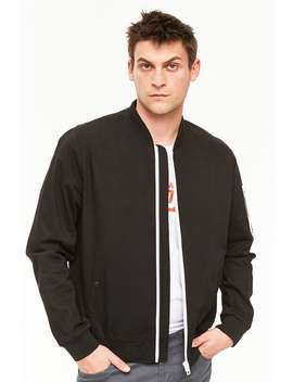 Twill Bomber Jacket by Forever 21