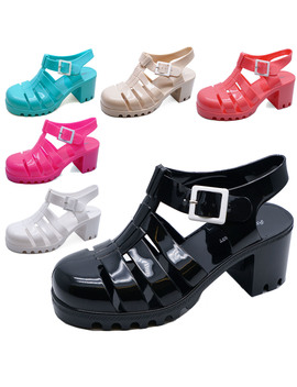 Ladies Jelly Gladiator Retro Sandals Festival Beach Holiday Shoes Pumps Uk 3 8 by Ebay Seller