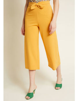 Compania Fantastica Best In Bow Culottes In Yellow Compania Fantastica Best In Bow Culottes In Yellow by Modcloth