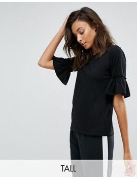 Daisy Street Tall T Shirt With Ruffle Sleeve by Daisy Street Tall