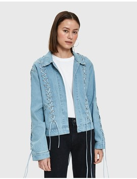 Shai Lace Up Denim Jacket by Need Supply Co.