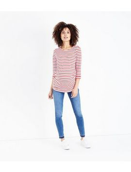 Maternity Blue Mid Wash Over Bump Jeans by New Look