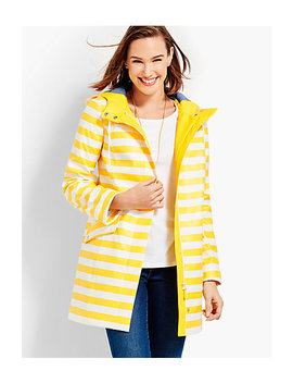 Classic Stripe Raincoat by Talbots