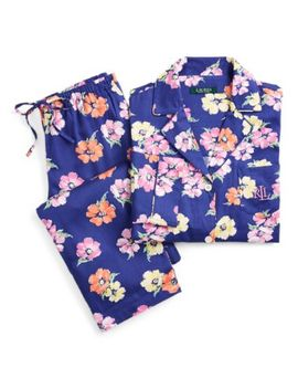 Floral Cotton Blend Pajama Set by Ralph Lauren