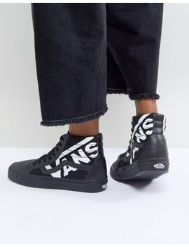 Vans Sk8 Hi Sneakers In Black With Large Logo by Vans