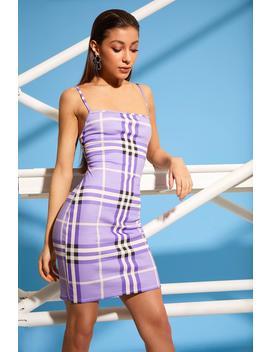 Saskia Check Square Neck Mini Dress by Boohoo