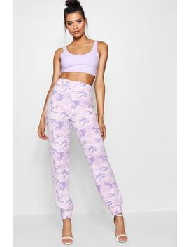 Jolie Crepe Camo Print Cargo Trousers by Boohoo
