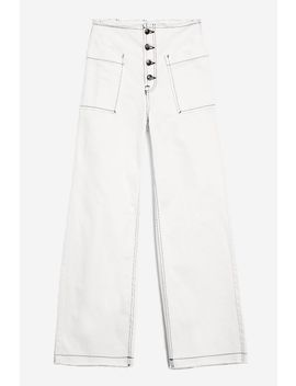 Moto High Rise Wide Leg Jeans by Topshop