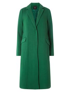 Green Twill Slim Coat by Dorothy Perkins
