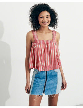 Tie Back Woven Crop Cami by Hollister