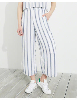 Wide Leg Crop Pants by Hollister
