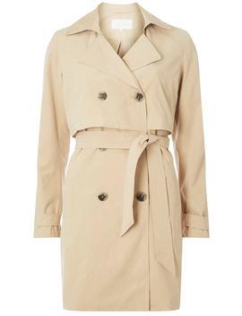 **Vila Beige Tie Waist Trench Coat by Dorothy Perkins