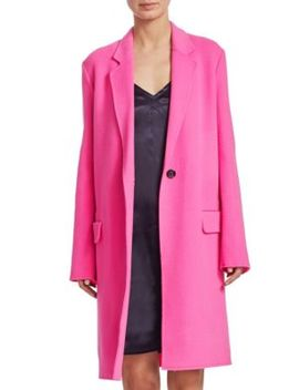 Wool Button Front Jacket by Helmut Lang