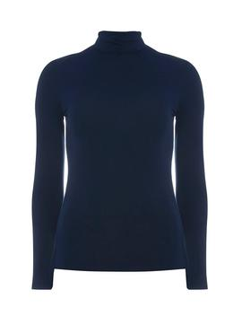 Navy High Neck Top by Dorothy Perkins