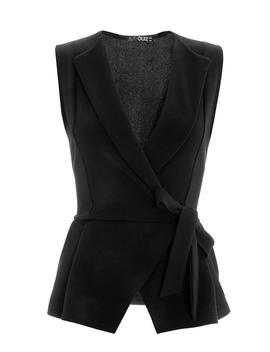 *Quiz Black Crepe Waistcoat Top by Dorothy Perkins