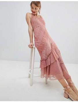 Asos Design Mix & Match Lace & Dobby Cami Dress by Asos Design