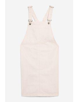 Pinstripe Pinafore Dress by Topshop