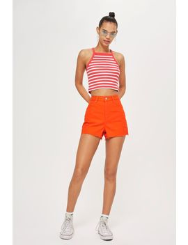 Flame Red Mom Shorts by Topshop