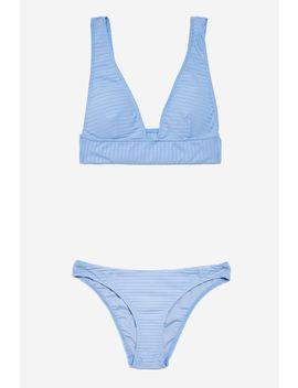 Ribbed Longline Bikini Set by Topshop
