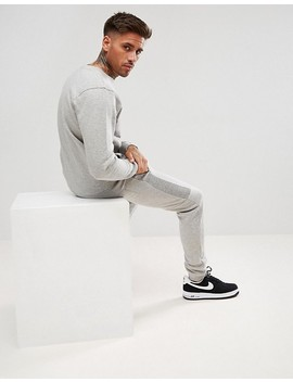 Boohoo Man Skinny Tracksuit With Contrast Panels In Gray by Boohoo Man