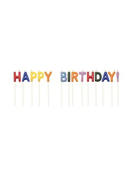 Creative Converting Pick Letter Sets Birthday Cake Candles, Assorted by Creative Converting