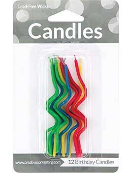 Creative Converting 12 Count Crazy Curl Birthday Cake Candles, Assorted by Creative Converting