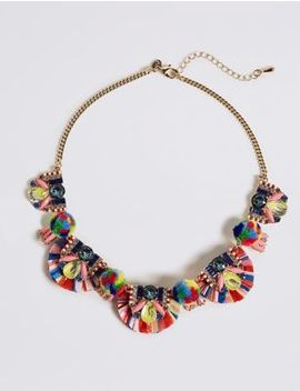 Fiesta Fan Necklace by M&S Collection