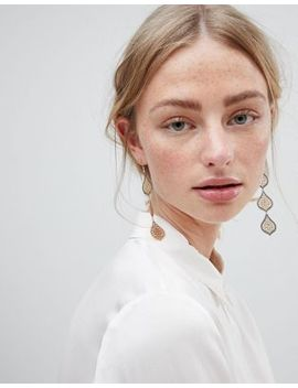 Asos Design Filigree Teardrop Strand Earrings by Asos Design