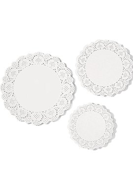 E Boot 36 Pieces White Lace Paper Doily Cake Packaging Paper Pad, 6.5 Inch, 8.5 Inch, 10.5 Inch by E Boot
